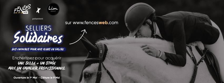 Vente Selliers Solidaires sur Fences Web : Une selle + un stage avec un cavalier professionnel aux enchères !
