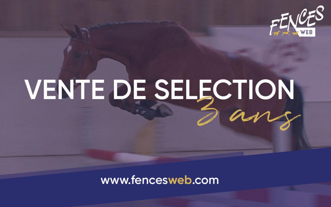 Vente de Sélection 3 ans – FENCES WEB 2021